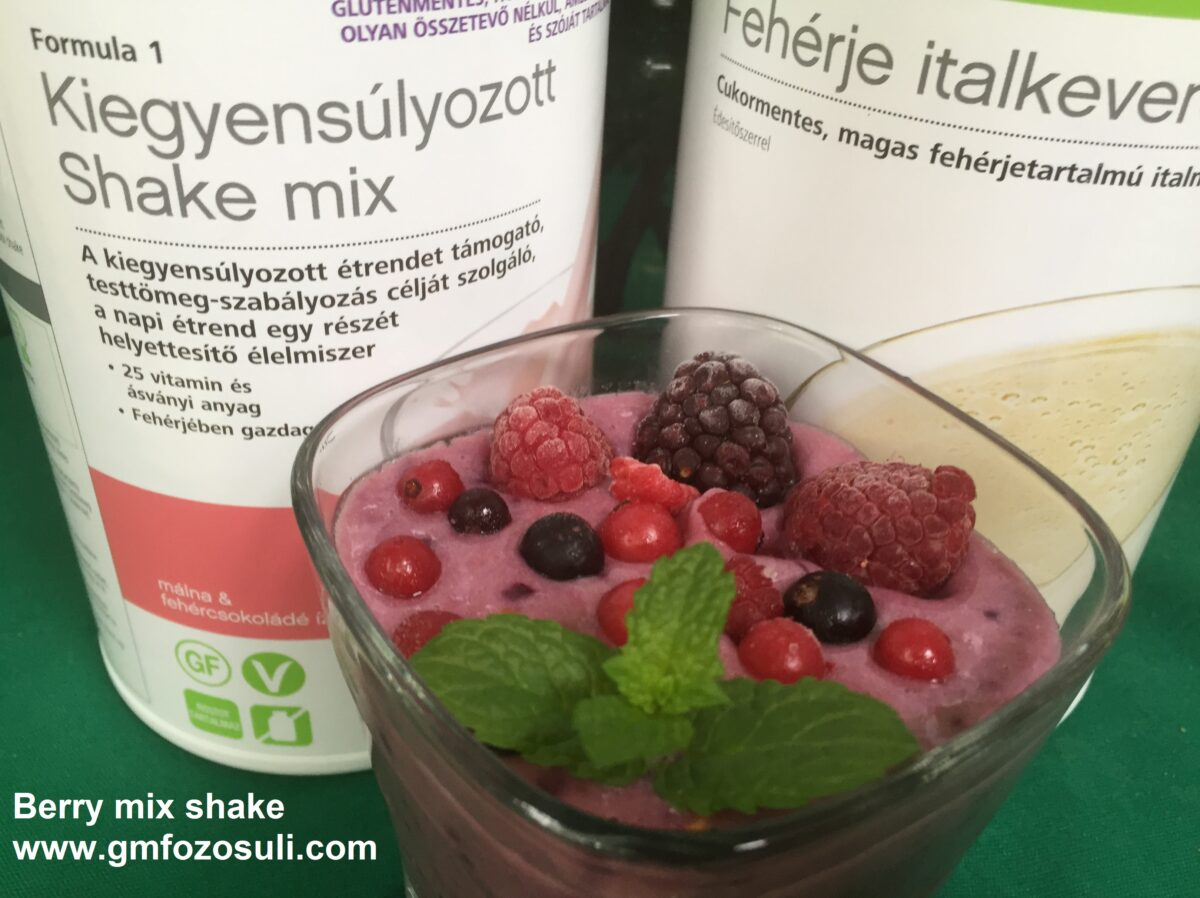 Berry mix shake glutenmentes vegan